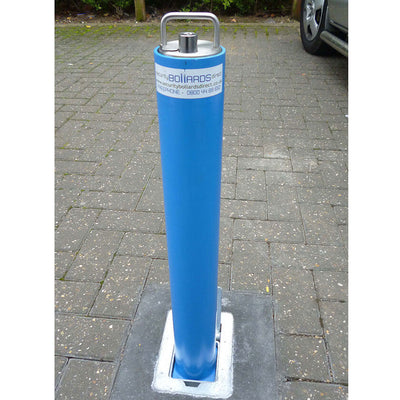 RD4 Telescopic bollard in Blue