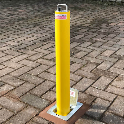 RD4 Telescopic bollard in Yellow