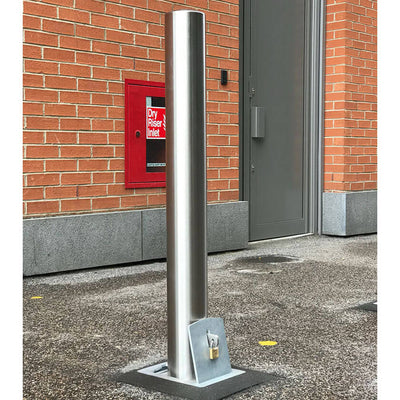 114mm diameter stainless steel removable bollard