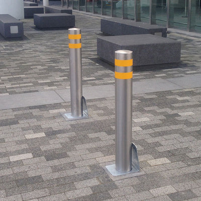 139mm Diameter Stainless Steel Removable Bollards