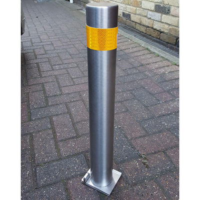 76mm diameter stainless steel fold down parking post