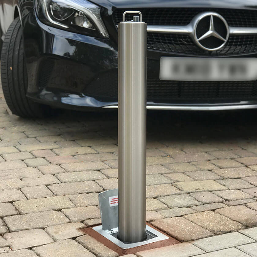 SS14 Stainless steel heavy duty telescopic bollard