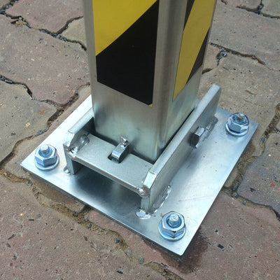 SS4 Fold down parking post ground plate