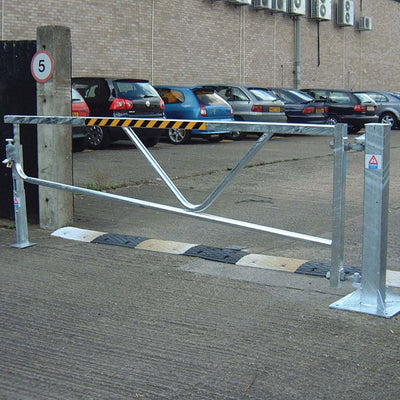 Swing gate barrier in a Galvanised finish