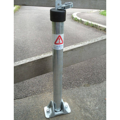 Top Lock fold down parking post in a galvanised finish