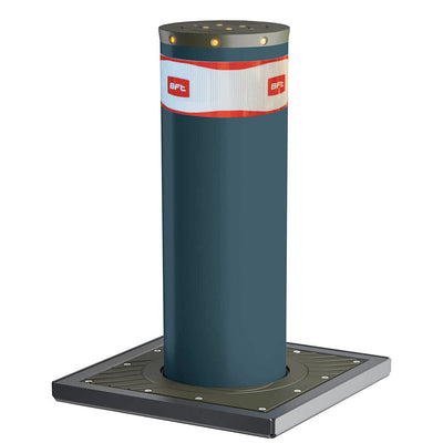 X-Pass B K4 Anti terrorist automatic rising bollard in graphite grey..