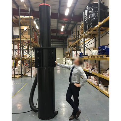 X-Pass B K12 Anti terrorist automatic rising bollard complete unit.