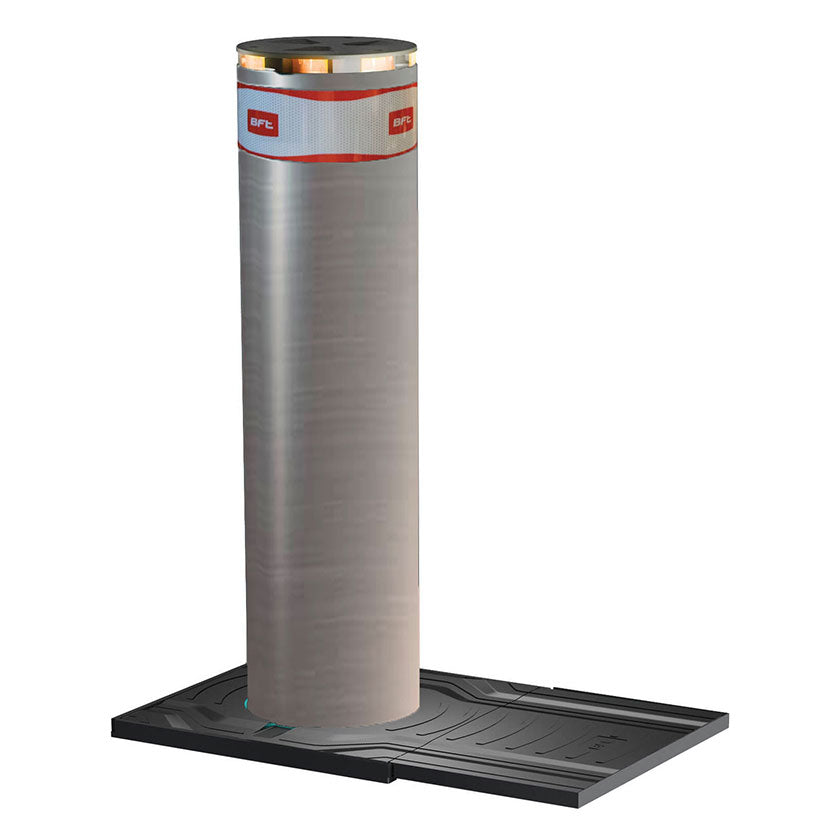 BFT - (K12) X-Pass 1200 Stainless Steel Automatic Rising Bollard
