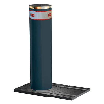 X-Pass B K12 Anti terrorist automatic rising bollard in graphite grey.