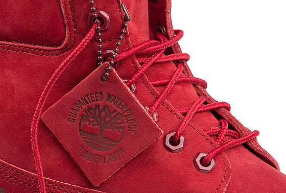"Timberland 6"" Premium Waterproof Boots Red - Sole Seriouss"