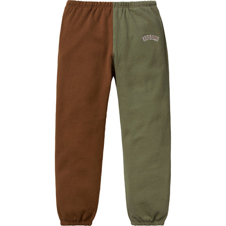 Supreme Split Sweatpant Brown / Olive FW18