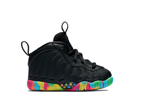 NIKE AIR FOAMPOSITE ONE FRUITY PEBBLES BLACK (TD)