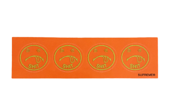 Supreme 4 Shit Face Sticker Strip Orange FW17