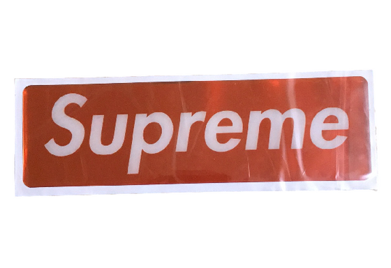 Supreme Shiny Vinyl Plastic Box Logo Sticker Red FW17