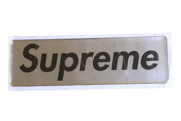 Supreme Plastic Box Logo Sticker Silver FW17