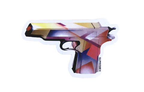 Supreme Mendini Gun Sticker SS16