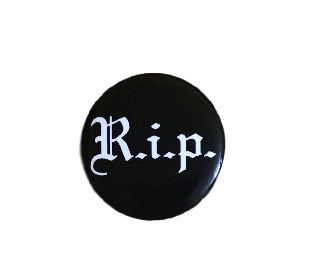 Supreme R.I.P. Pin Black FW16