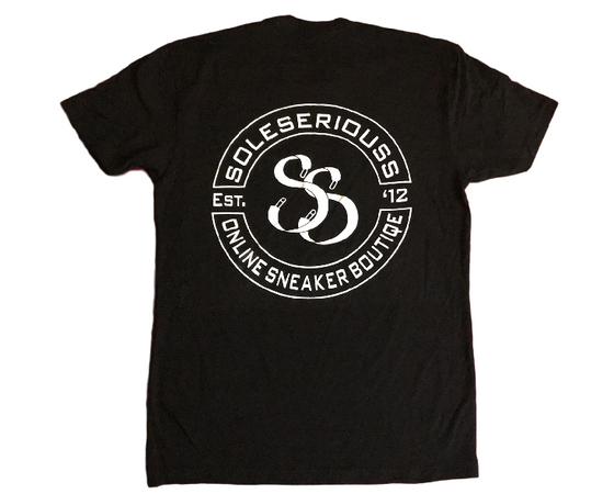 SOLESERIOUSS Stamp Tee Black / White (S/S) - Sole Seriouss