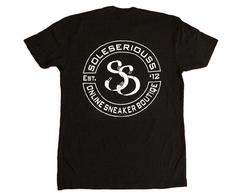 SOLESERIOUSS Stamp Tee Black / White (S/S)