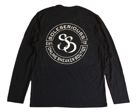 SOLESERIOUSS Stamp Tee Navy / White (L/S) - Sole Seriouss