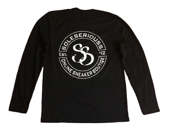 SOLESERIOUSS Stamp Tee Black / White (L/S) - Sole Seriouss