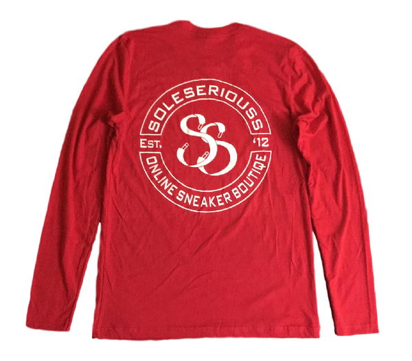 SOLESERIOUSS Stamp Tee Red / White (L/S)