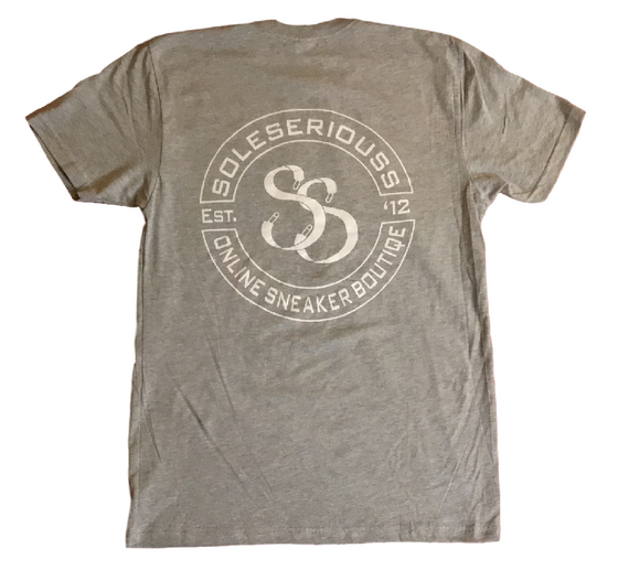 SOLESERIOUSS Stamp Tee Grey / White (S/S) - Sole Seriouss