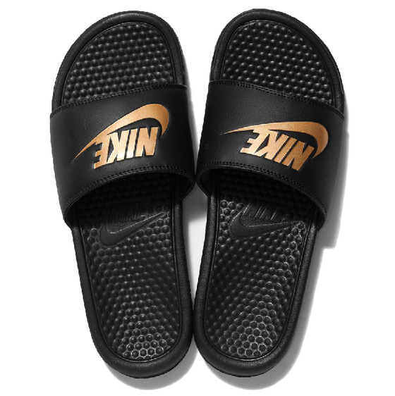 Nike Benassi JDI Slide Black / Metallic Gold