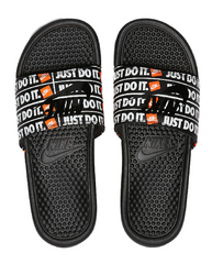 Nike Benassi JDI Print Slide Black/Orange