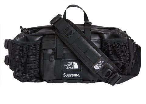 Supreme x The North Face Leather Mountain Waist Bag Black FW18