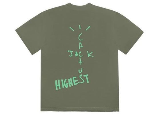 Travis Scott x Air Jordan Cactus Jack Highest T-Shirt Olive