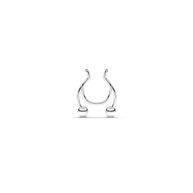 Stainless steel Nose Ring - false nose ring piercing jewelry
