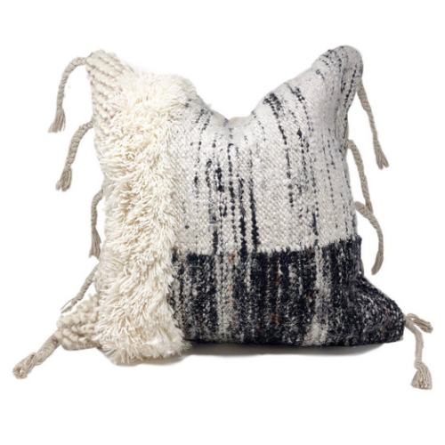 Bohemian Pillow,  Black Bohemian Pillow, White boho Pillow, White bohemian pillow, modern black pillow, best pillows 2020, tulum decor, bohemian home decor, casa boho, the woven nook, woven nook, mudcloth pillows, moroccan pillows, vintage pillows, woven pillos, woven pillows, cream pillows, coastal decor, bohemian homes, coastal homes