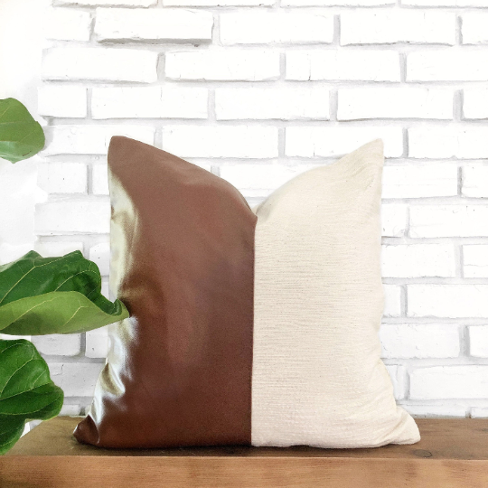Morena Vegan Leather Pillow Cover