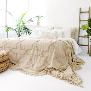Sandy Handwoven Bedspread Set - Natural
