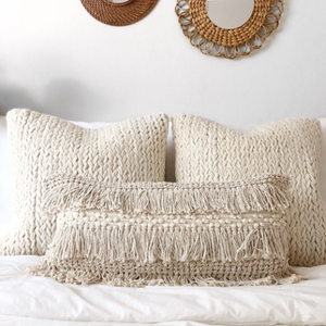 Ivory Lumbar Pillow Cover