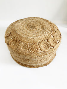 Sol Braided Jute Bean Bag