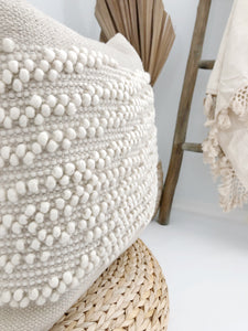 White Shell Handwoven Pillow Cover