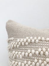 Load image into Gallery viewer, White Shell Handwoven Pillow Cover