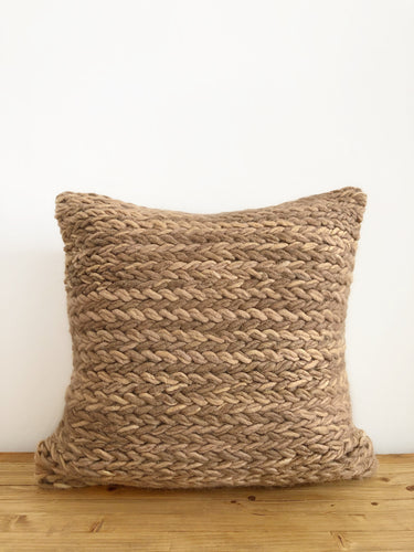 Monet Wool Pillow Cover - Brown
