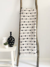 Load image into Gallery viewer, Cotton Sea Throw Blanket - Black