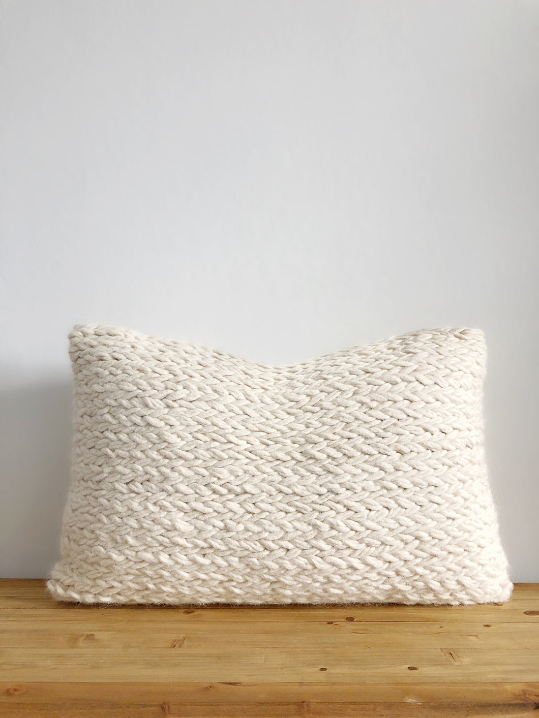 Monet Wool Lumbar Pillow Cover