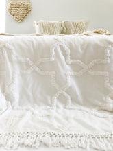 Load image into Gallery viewer, Sandy Handwoven Bedspread - Egg Shell |PRE-ORDER