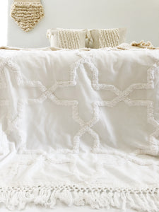 Sandy Handwoven Bedspread - Egg Shell |PRE-ORDER