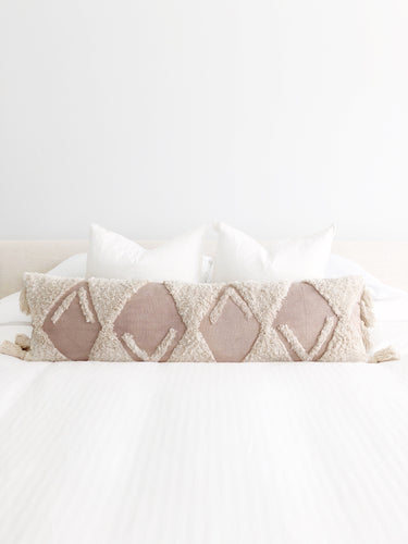 Sand Dune Lumbar Pillow Cover - Blush