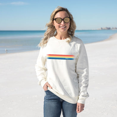 Thirty A Retro Stripe Recycled Crewneck Sweatshirt