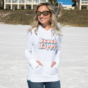 Retro Beach Happy Recycled Hoodie