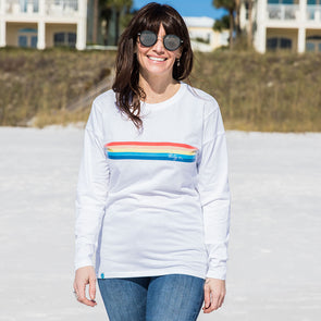 Thirty A Retro Stripe Recycled Long Sleeve