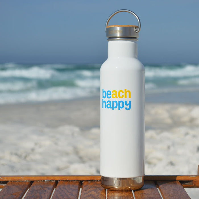 Beach Happy 20-ounce Klean Kanteen Bottle with 30A Bamboo Lid