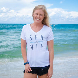 30A Sea la Vie Recycled V-Neck